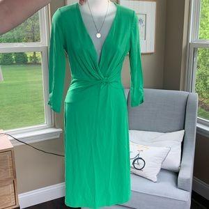 """{Lily Pulitzer} Green """"Wrap"""" Midi Dress"""